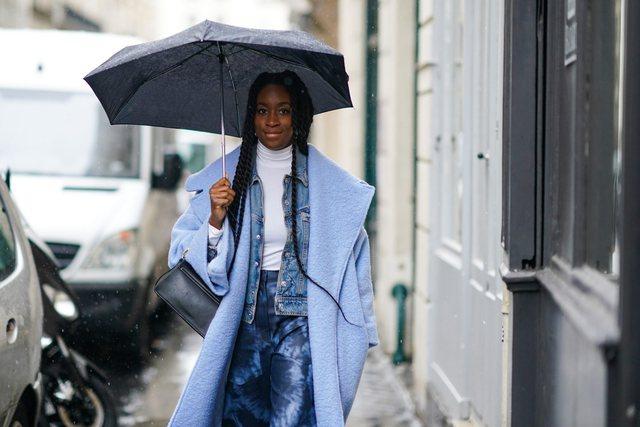 Plot stil në ditë me shi- Këshilla për veshjen